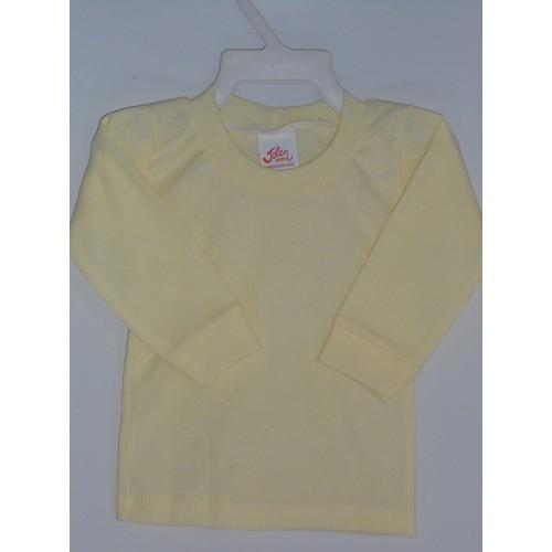 Camiseta bebê manga longa malha canelada 2d62ffe4c6b