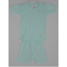Conjunto bebê Camiseta Shorts malha canelada